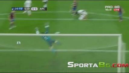 Барселона 4 - 1 Арсенал 1/4 - финал реванш Шампионска Лига общ резултат 6:3 (06.04.2010.)