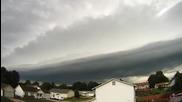 Time lapse - Буря в Сейнт Луис, Мисури 19.8.2014