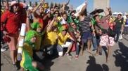 Фенове на Бразилия и Чили заляха улиците в Бело Оризонте