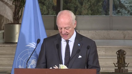 Switzerland: UN's de Mistura optimistic over latest intra-Syrian talks