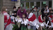 Poland: Protesters rally against Belarus plane diversion outside European Commission representation