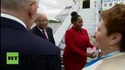 Russia: Jacob Zuma arrives in Ufa ahead of 7th BRICS summit