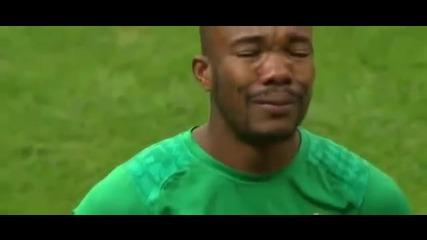 Респект! Играч на Кот д' Ивоар се разплака по време на националния химн !