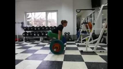 112.5 kg Deadlift by 66kg 181cm Female athlete
