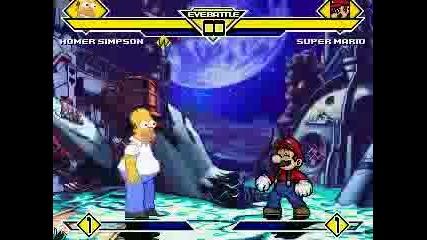 Хоумър Симпсон Срещу Супер Марио