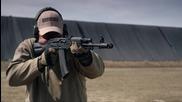 Стрелба с автомат Калашников A K 74 на забавен кадър