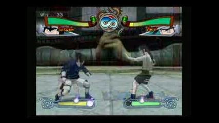 Naruto Clash Of A Ninja - Sasuke Vs Neji