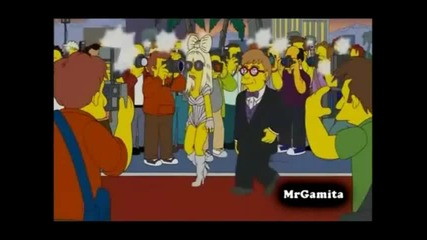 Lady Gaga on simpson Official Video