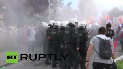 Germany: Riot police pepper spray anti-G7 protesters as clashes kick off in Bavaria