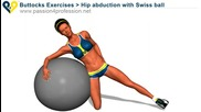 Упражнение за хълбоци с Швейцарска топка в домашни условия