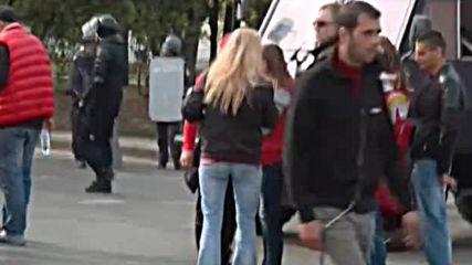 Шествие не феновете на ЦСКА преди вечното дерби