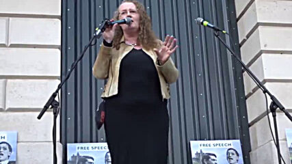 Долорес Кахил на протеста в Дъблин / Prof. Dolores Cahill Speaks in Dublin, 28th of Nov. 2020