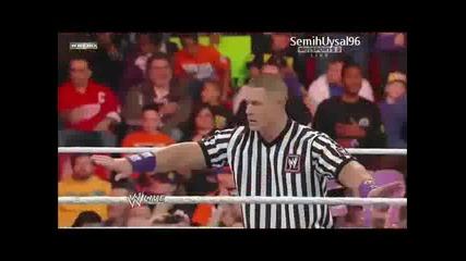 Wwe Cm Punk vs Wade Barret ( Special Guest Referee John Cena ) Full Match Hd Raw
