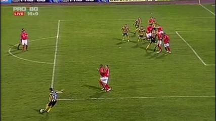 Първите 2 гола на Миньор срещу Цска