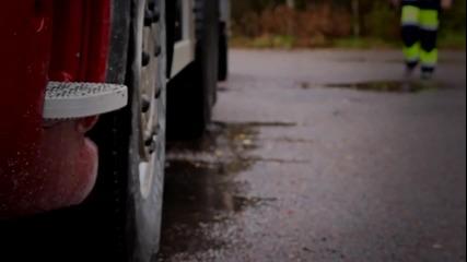 Един ден от живота на камионджия в гората