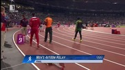 London 2012 Summer Olympics Athletics 4x100m Mens Relay Final World Record