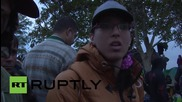 Serbia: Hundreds of refugees wait to cross into Croatia from Berkasovo