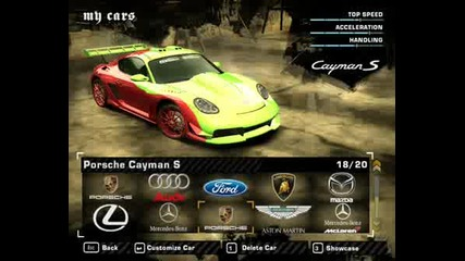 Need For Speed Most Wanted (my Cars)