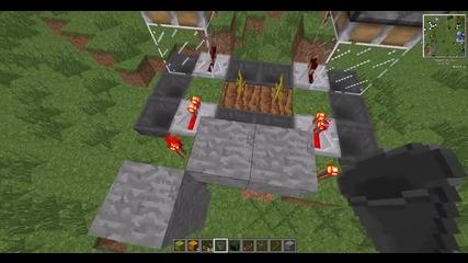 Minecraft - Автоматична ферма за диня и тикви.