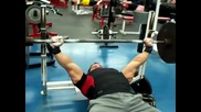 Greg _mutant_ Doucette Bench Press 225 lbs 54 reps at 211 lbs Nfl Combine Power Test