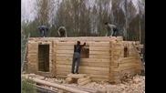 Изграждане на традиционна финландска къща от дърво