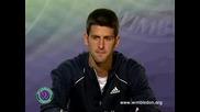 Wimbledon 2008 : Джокович след загубата от Сафин