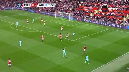 Симулация или дузпа за Уест Хем срещу Юнайтед?