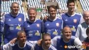 Тенисист вкара два гола в мач с участието на Зико, Ромарио и Бебето