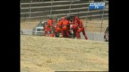 Spectaculaire crash depart Indy Lights 2008 Sears Point