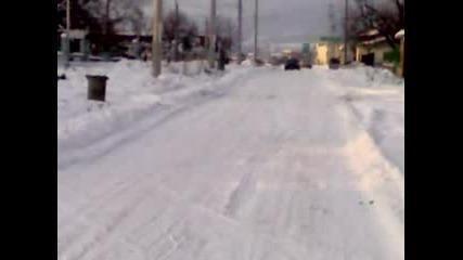 Alfetta Gtv Drift On Snow