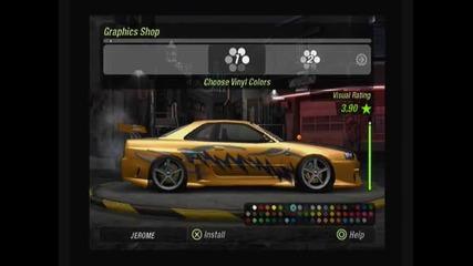 Тунинг ~ Nissan Skyline ~ на Need For Speed Underground 2