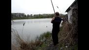 Коте краде улова на рибар ! :d
