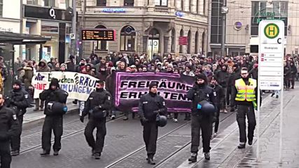 Germany: March seeks to stop eviction of left-wing squat in Halle
