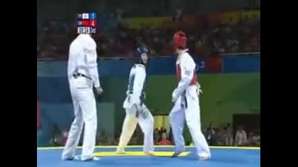 Taekwondo Beijing olympics 2008 woman - 49kg Chn Vs Tpe Semifinal