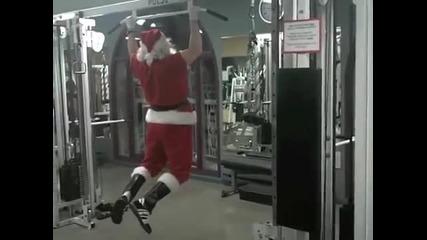 Дядо Коледа загрява за голямото разнасяне на подаръци