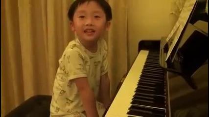 4-годишно дете и удивителния му музикален усет