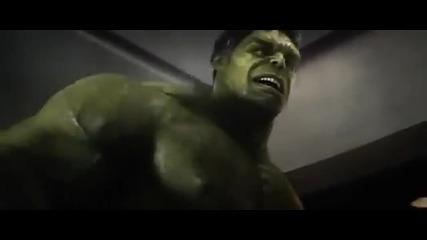 Дребен бог. - Смешна сцена от филма Отмъстителите (2012) / Бг Субс
