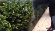 Ето как едно Ламборджини може да подпали трева ! С М Я Х