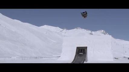 Задно салто с кола в ледовете !!