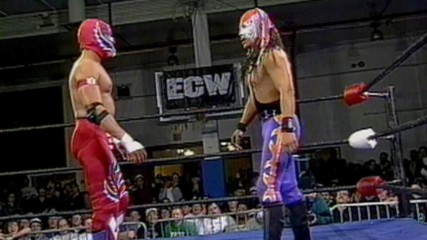 Mysterio and Guerrera unleash on each other at ECW Big Apple Blizzard Blast 1996