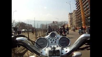 Откриване мото сезон 2012 - шествие Александър Невски - Бояна - 2 част