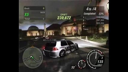 Nfs Underground 2 - Hillside Manor drifting with max traffic (white Venom Golf)
