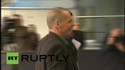 Luxembourg: Greek FM Varoufakis arrives for Euro crisis crunch talks