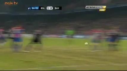 Базел 1-0 Байерн Мюнхен Осминафинали Уефа Шампионска Лига