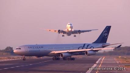 Два самолета на косъм от сблъсък ..