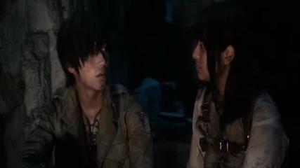 Shingeki no kyojin movie (2015) целия филм Eng sub