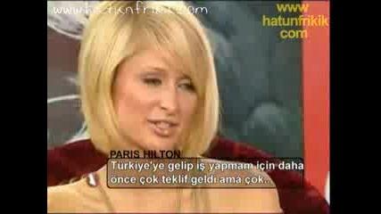 Paris Hilton - Interview In Istanbul
