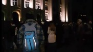Протестът стигна до Съдебната палата