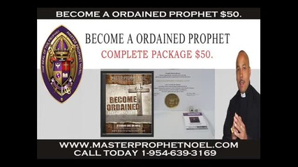 Become A Ordained Prophet $50