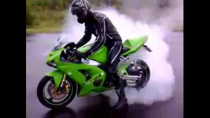 Burnout Kawasaki Ninja Zx6 - Rr Team Gre